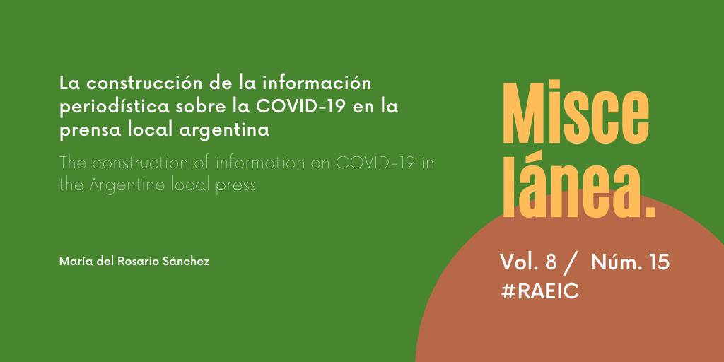 La construcción de la información periodística sobre la COVID-19 en la prensa local argentina